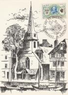 OBLIT. GF ILLUSTRÉE ART ET PHILATÉLIE HONFLEUR 20/10/68 - Commemorative Postmarks