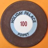 $100 Casino Chip. Holiday Palace, Poipet, Cambodia. Q05. - Casino