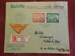 Lettre De 1942 Au Depart De Varsovie En Recommandé - 1939-44: 2ème Guerre Mondiale