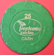 $25 Casino Chip. Tropicana, Poipet, Cambodia. Q06. - Casino