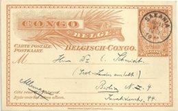 """1911 - Congo Belge - Carte-postale - """"SAKANIA"""" Vers Berlin (Allemagne) - Postwaardestukken"""