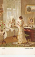 """""""M. Rau. Lady. Ihr Kleiner Liebling'"""" Fine Painting, Vintage German PC - Pintura & Cuadros"""