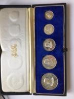 Swaziland 1968 5 Coins Silver Proof Indépendance Rare - Swaziland