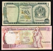 Malta 1 + 2 Liri 1967 LOTTO 2784 - Malta