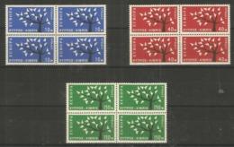 4x CYPRUS - MNH - Europa-CEPT - Art - 1962 - Europa-CEPT