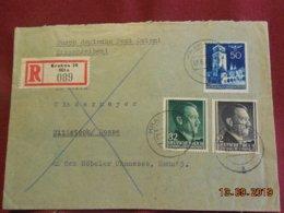 Lettre De 1942 Au Depart De Cracovie Pour Wittstock En Recommandé - Governo Generale