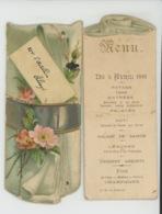 MENU - ORLEANS - Joli MENU Daté Du 5 AVRIL 1891 Organisé Pour Soldat Du 32ème D'Artillerie D'Orléans à L HOTEL DE FRANCE - Menú