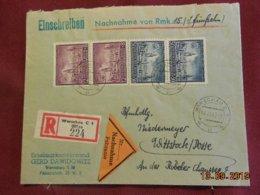Lettre De 1942 Au Depart De Varsovie Pour Wittstock En Recommandé - Governo Generale