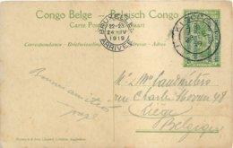 "1919 - Occupation Belge - Carte-vue - ""KIGOMA"" Vers Liège (Belgique) - Ayant Circulée !! - Ruanda-Urundi"