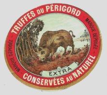 étiquette Truffe Truffes Périgord Champignon Tartufo SANGLIER JABALÍ Cinghiale Wild Boar Wildschwein Commerce Conserve - Folklore