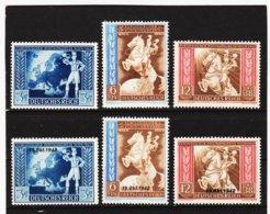 RAD41 DEUTSCHES REICH 1942 MICHL 820/25  ** Postfrisch Siehe ABBILDUNG - Unused Stamps