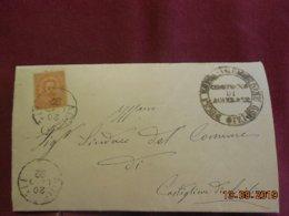 Lettre De 1892 Au Depart De Acireale à Destination De Castiglione - 1878-00 Humbert I.