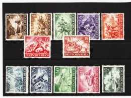 RAD67 DEUTSCHES REICH 1943 MICHL 831/42  ** Postfrisch Siehe ABBILDUNG - Unused Stamps