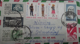 V) 1966 MEXICO, TB SEALS, SOLDIER, CU MODERN ARCHITECTURE, AIRMAIL, POSTAL STATIONARY, MULTIPLE STAMPS, CIRCULATED COVER - Mexico
