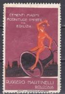 ITALY -  Poster Stamps -1900--1915 --MH--RECLAMA-CEMENTI,MARMI FORNITURE COMPLETE--BOLOGNA - Otros
