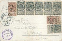 "1898 - Carte-vue ""ANVERS (BASSINS)"" Vers Vöslau (Autriche) - Stamped Stationery"