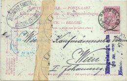 """1906 - Carte-postale """"BRUXELLES 5"""" Vers Vienne (Autriche) - """"AMTLICH VERWAHRT"""" - Stamped Stationery"""