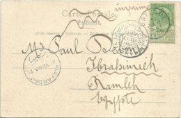 """1903 - Carte-vue En Imprimé """"OSTENDE"""" Vers L'Egypte - Postcards [1871-09]"""
