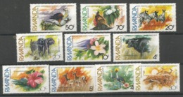 RWANDA - MNH - Animals - Wild Animals - Birds - Flowers - Other