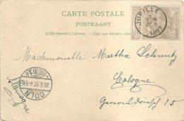 """1897 - Carte-vue """"JUPILLE"""" Vers Cologne (Allemagne) - Stamped Stationery"""