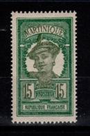 Martinique - Petite Variete YV 95 N* Chiffres Decalés Vers L'Ouest - Nuevos