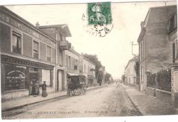 CPA St Leu Saint L'Avenue De La Gare 95 Val D'Oise - Saint Leu La Foret