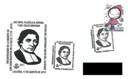 SPAIN. POSTMARK 300th ANNIV. SAN JUAN BAUTISTA DE LA SALLE. L'ALCORA 2019 - España