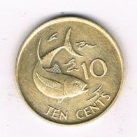 10 CENTS 1982 SEYCHELLEN /6609/ - Seychelles