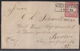 DR Brief EF Minr.19 R2 Woldenberg 4.8. Gel. Nach Berlin - Deutschland