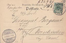 DR Karte EF Minr.46 KOS Hannover-Linden 22.9.97 Gel. Nach Obernkirchen - Briefe U. Dokumente