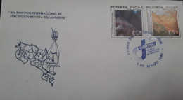 V) 1980 COSTA RICA, XIV INTERNATIONAL SYMPOSIUM REMOTE PERCEPTION OF THE ENVIRONMENT, WITH SOLOGAN CANCELATION IN BKUE, - Costa Rica