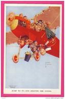 """CPA (Réf : Z394) ILLUSTRATEUR LAWSON - WOOD """"GRAND POP"""" SERIES - LES SINGES ET L'AVIATION - Illustratori & Fotografie"""