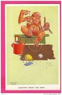 """CPA (Réf : Z395) ILLUSTRATEUR LAWSON - WOOD """"GRAND POP"""" SERIES - LA MATERNITÉ Singe - Illustrators & Photographers"""