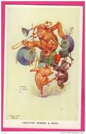 """CPA (Réf : Z396) ILLUSTRATEUR LAWSON - WOOD """"GRAND POP"""" SERIES - L'ORCHESTRE AVEC COCHON ET SINGE - Illustratori & Fotografie"""