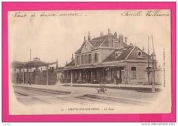 CPA (Réf : Z913) CHATILLON-SUR-SEINE (21 CÔTE D'OR) La Gare  Avec Train à Vapeur Et Wagons (animée) - Chatillon Sur Seine
