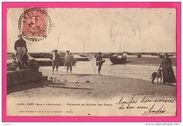 CPA (Réf : PA112)  ARÈS (bassin D'Arcachon) (33 GIRONDE) Pêcheurs De Retour Des Parcs (animée) - Arès