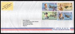 BERMUDES BERMUDA  Enveloppe Cover 4 Stamps Royal Air Force 100 Th Anniversary Avion Plane - Bermudes