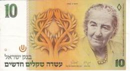 BILLETE DE ISRAEL DE 10 SHEQALIM DEL AÑO 1992 (BANKNOTE) - Israel