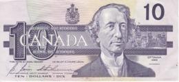 BILLETE DE CANADA DE 10 DOLLARS DEL AÑO 1989 CALIDAD EBC (XF) (BANKNOTE) - Canada