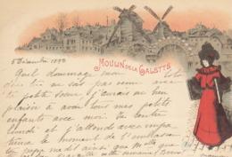 Le Moulin De La Galette : Pionnière :  1898     ///  REF  SEPT.  19  /// N° 9346 - Illustratori & Fotografie