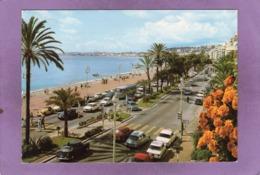 06 NICE Promenade Des Anglais Côté Californie Flamme De Grasse Au Dos Automobiles Citroên DS Renault 8 Autocar Saviem - Traffico Stradale – Automobili, Autobus, Tram