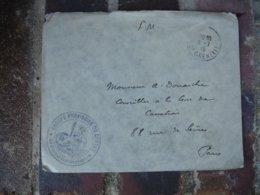 Groupe Provisoire Du Centre  Cachet Franchise Postale Militaire Guerre 14.18 - Postmark Collection (Covers)