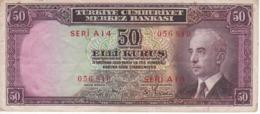 BILLETE DE TURQUIA DE 50 KURUS DEL AÑO 1930  (BANKNOTE) - Turquia