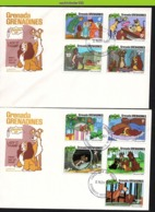 Nfe1761b WALT DISNEY LADY EN DE VAGEBOND HOND KAT DOG CAT GRENADA GRENADINES 1981 FDC's - Disney