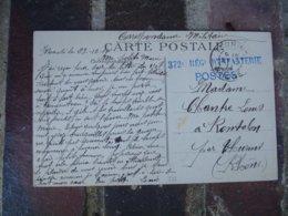 372 Eme Regiment Infanterie Cachet Franchise Postale Militaire Guerre 14.18 - Postmark Collection (Covers)