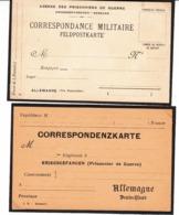 Guerre 1914/18      2 Cartes Correspondance Militaire   Agence Des Prisonniers De Guerre - Weltkrieg 1914-18