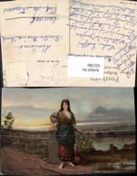 631300,Künstler Ak Frau Sinti Roma Zigeuner Mignon Mandoline - Ansichtskarten