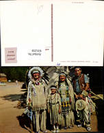 631259,Indianer Chief Running Horse And Family - Ansichtskarten