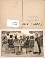 631258,Künstler Ak The Harvest Feast Indianer - Ansichtskarten