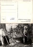 631257,Völkerkundliches Indianer Museum Radebeul Diorama Heimkehr V. D. Schlacht - Ansichtskarten